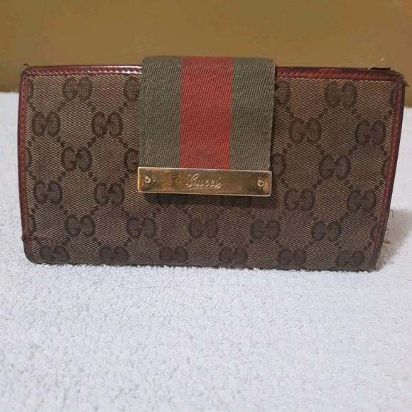 1618b2d445f7 Gucci Bags | Authentic Leather Wallet Long Bordeaux | Poshmark
